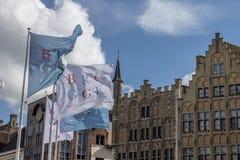 Brugges Markt Bélgica Foto de Stock Royalty Free