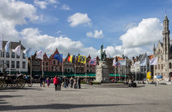 Brugges Markt België Royalty-vrije Stock Afbeelding