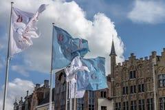 Brugges Markt België Stock Foto