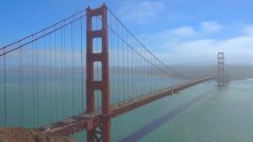 Bruggolden gate in de dagtijd van San Francisco stock videobeelden
