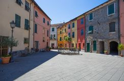 Brugnato LaSpezia inland, nära de berömda 5na Terre, Italien Royaltyfria Bilder