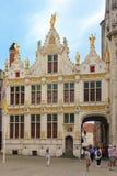 Brugse Vrije. Burg square. Bruges. Belgium Stock Images