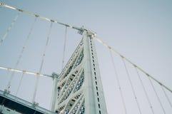 Brugstructuur en blauwe hemel Royalty-vrije Stock Foto