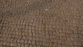 Brugweg van een graniet vierkante kei stock afbeeldingen