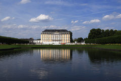 Bruhl Palace Augustusburg Reflecting In Garden Lake Royalty Free Stock Photography