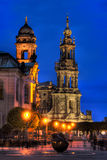 Bruhl's Terrace in HDR. An HDR image of Dresden's Bruhl's Terrace at night Stock Photo
