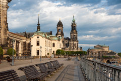 Bruhl Terrasse in Dresden Stock Photography