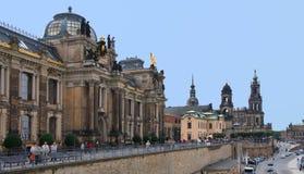 Bruhl Terrasse, Dresden Stock Photos