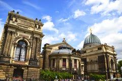 Bruhlterras in Dresden Royalty-vrije Stock Foto's
