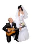 Bruid aan de bruidegom Royalty-vrije Stock Foto