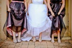 Bruid & Bruidsmeisjes Royalty-vrije Stock Afbeeldingen