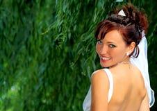 Bruid in de huwelijksdag royalty-vrije stock afbeelding
