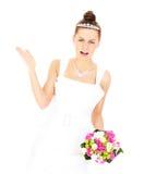Bruid die een probleem hebben Stock Fotografie