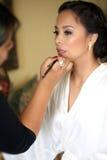 Bruid die klaar worden Royalty-vrije Stock Foto's
