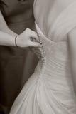 Bruid die Klaar wordt Stock Foto