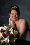 Bruid en Bloemen Stock Afbeeldingen