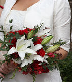 Bruid en Bloemen Royalty-vrije Stock Foto's