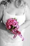 Bruid en boeket Stock Fotografie