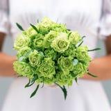 Bruid en boeket-2 Stock Afbeelding