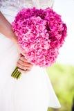 Bruid en boeket Royalty-vrije Stock Foto