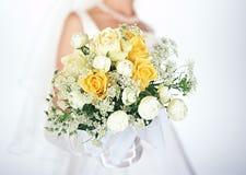 Bruid en boeket-7 stock afbeeldingen