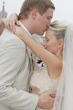 Bruid en bruidegom Stock Foto