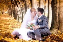 Bruid en bruidegom royalty-vrije stock afbeeldingen