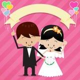 Bruid en bruidegom 0002 Stock Fotografie