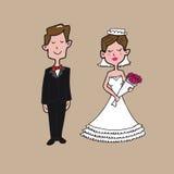 Bruid en bruidegom stock illustratie
