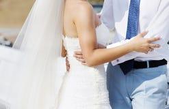 Het dansen van de bruid en van de bruidegom Royalty-vrije Stock Afbeeldingen