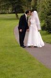 Bruid en Bruidegom - Huwelijk Royalty-vrije Stock Foto's