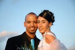 Bruid en bruidegom - huwelijkspaar Stock Foto's