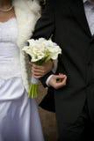 Bruid en bruidegom samen royalty-vrije stock foto
