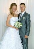 Bruid en bruidegomclose-up Stock Foto's