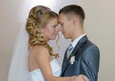 Bruid en bruidegomclose-up Royalty-vrije Stock Afbeelding
