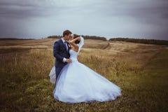 Bruid en bruidegomhuwelijksportretten Stock Fotografie