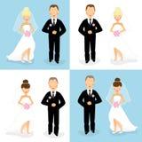 Bruid en bruidegomreeks 1 vector illustratie