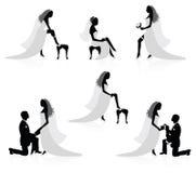 Bruid en een bruidegom. Royalty-vrije Stock Foto