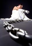 Bruid en kettingen Stock Afbeeldingen