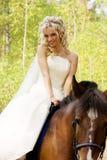 Bruid en paard Royalty-vrije Stock Fotografie