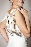 Bruid en schoenen royalty-vrije stock afbeeldingen
