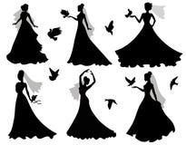 Bruid en vogels. Stock Afbeelding