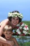 Bruid en zoon Royalty-vrije Stock Afbeelding