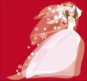 Bruid in huwelijkskleding Royalty-vrije Illustratie