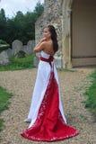 Bruid in kleding Royalty-vrije Stock Fotografie