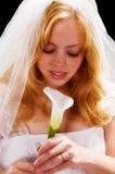 Bruid met bloem Royalty-vrije Stock Afbeeldingen