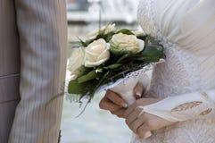 Bruid met bloem Stock Afbeelding