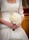 Bruid met bloemen Royalty-vrije Stock Foto