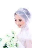 Bruid met bloemen Stock Foto's
