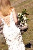 Bruid met bloemen Royalty-vrije Stock Afbeeldingen